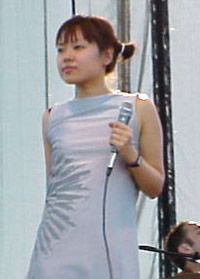 Cibo Matto's Miho Hatori at Coachella 1999; photo by Sean Flinn
